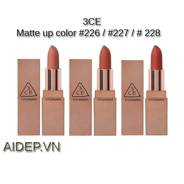 Son 3CE Matte Lip Color ( New 2019)
